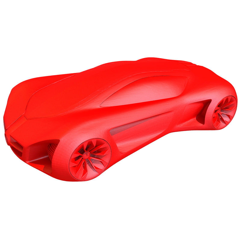printable concept car printing 3d model