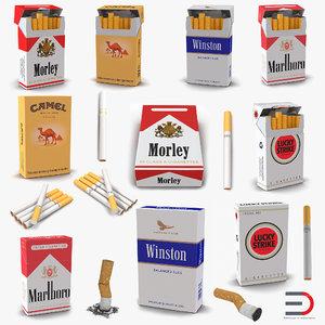 cigarettes 3 marlboro winston 3d 3ds