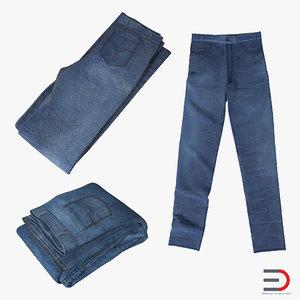 3d jeans design folded