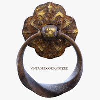 3d model vintage door knocker