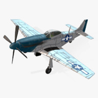 Real-Time Airplane P-51D Mustang