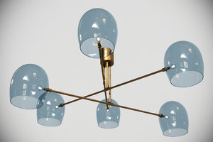 heathfield andromeda blue glass 3d model