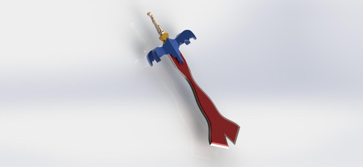 free obj model handed sword 2
