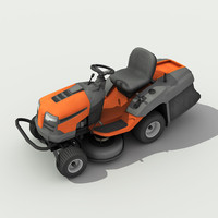 Riding Lawn Mower - Low poly