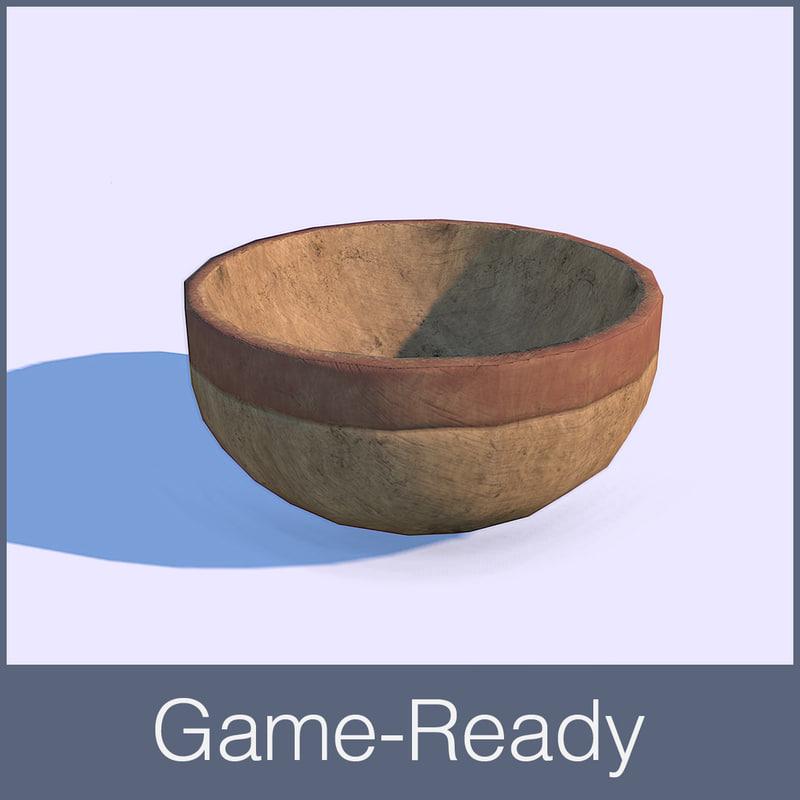 3d obj medieval bowl
