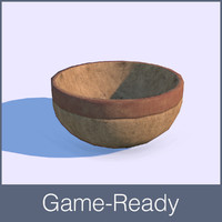 Medieval bowl low poly