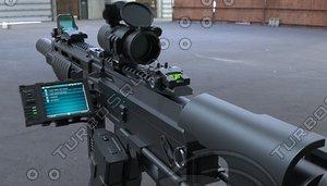 3d ak74 rifle