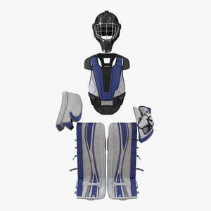 3d hockey goalie protection kit model