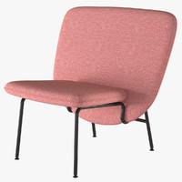 3d max armchair ala small la