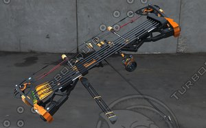 compound bow 3d max