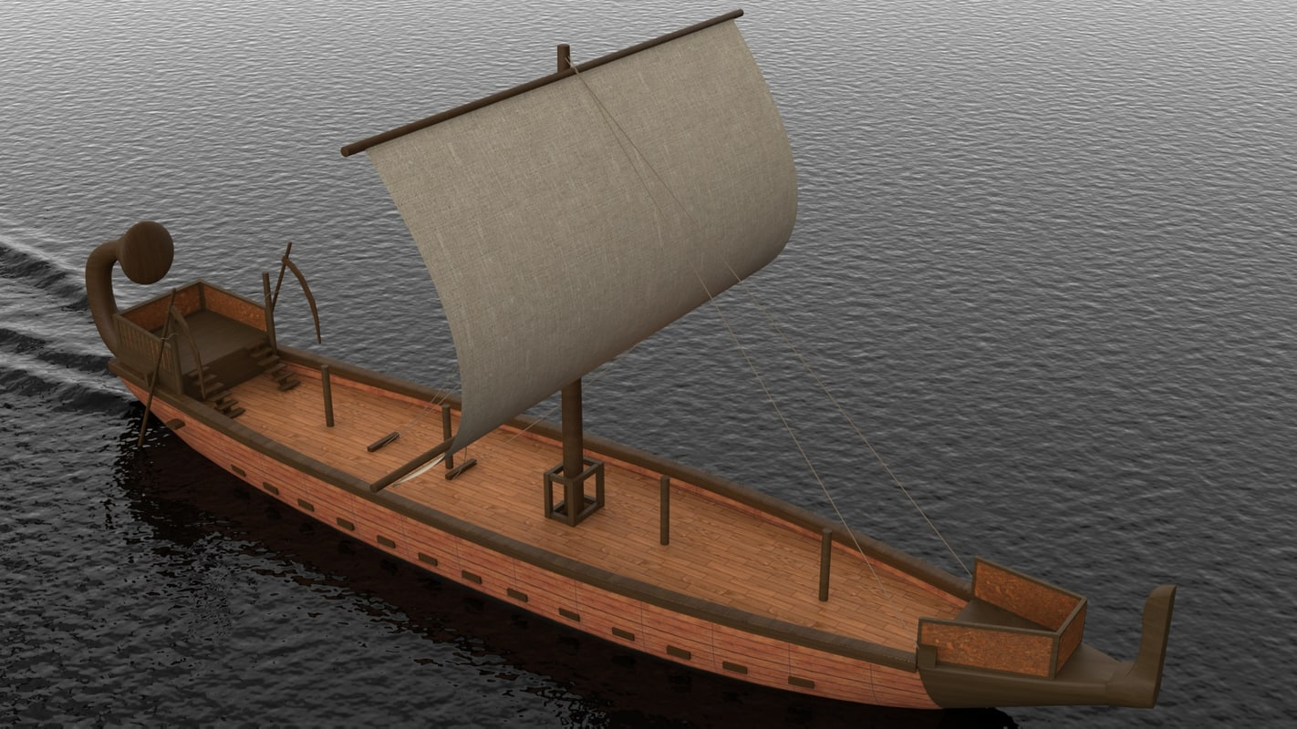 ship egypt 3d model
