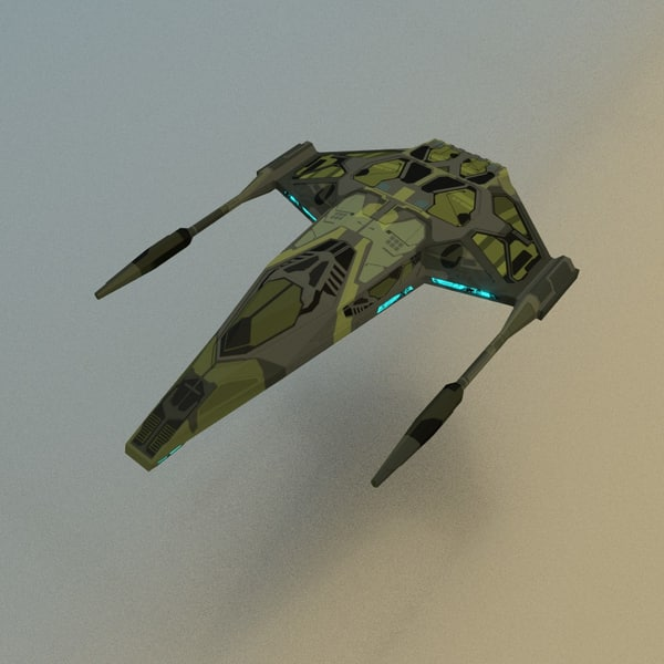 3d spaceship fighter model