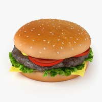 cheeseburger food 3d c4d