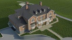 classic cottage 3d model