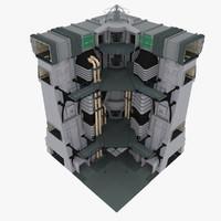 Sci-Fi Wall Part Corner