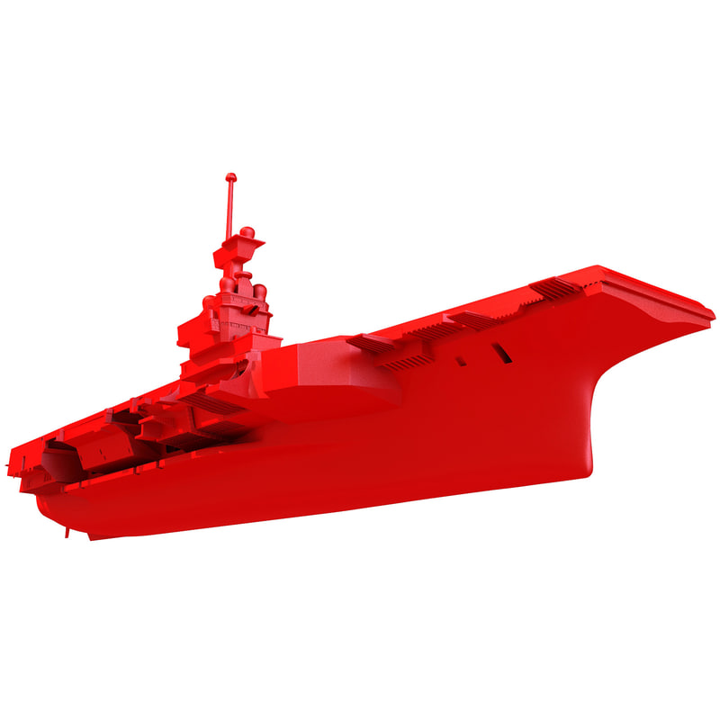 3d obj print-ready charles gaulle aircraft carrier