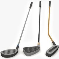 golf clubs 3d max
