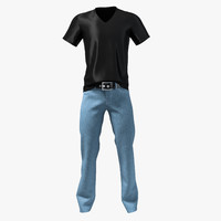 jeans set 3d max