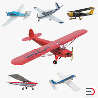 private airplanes 2 aircraft 3d max
