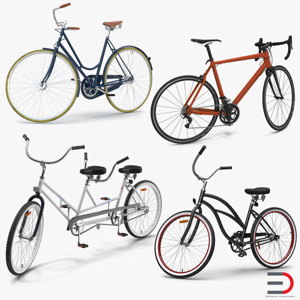 3d rigged bikes bicycle