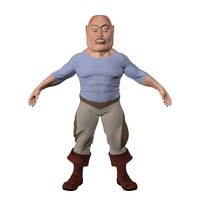 seaman cartoon man 3d max