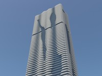 Aqua Tower Chicago Building HD