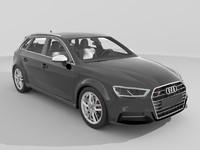 audi s3 sportback 2017 3d model