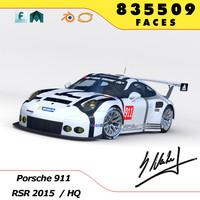 3d model porsche 2015 rsr r