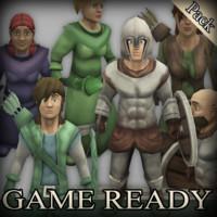 3d fantasy characters model