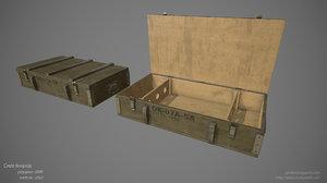 crate ready 3d obj