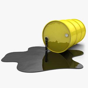 realistic oil barrel pool 3d max