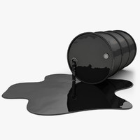 realistic oil barrel pool 3d model