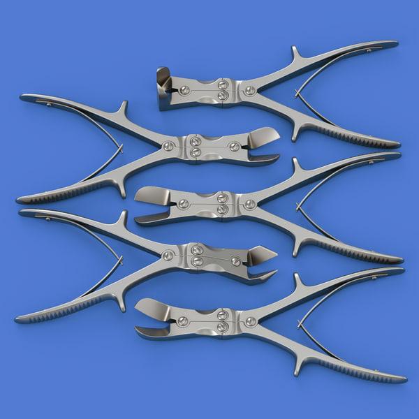 set bone cutters 3d max