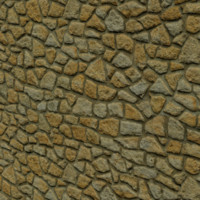 3d stone wall tileable model