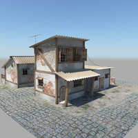 old houses 3d model