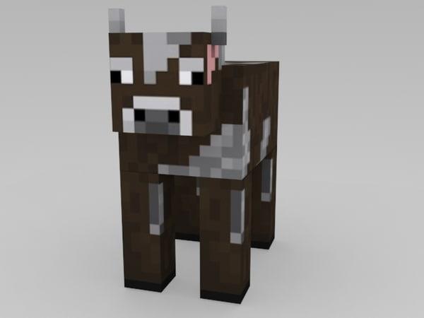 free max model minecraft cow