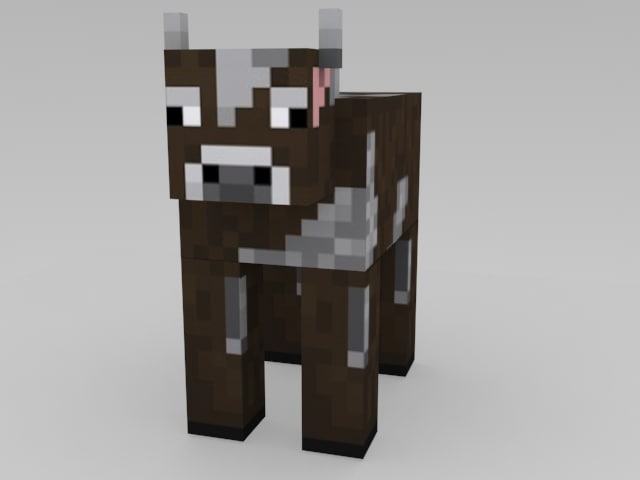 free max model minecraft cow