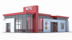 3d model kfc restaurant