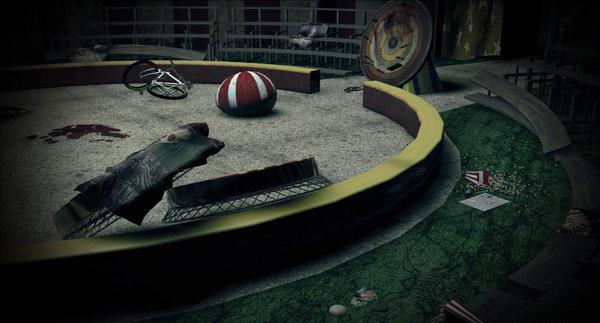 horror circus 3d c4d