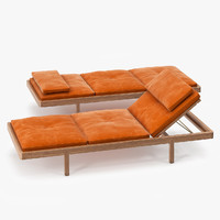 BassamFellows Daybed French Calf Suede