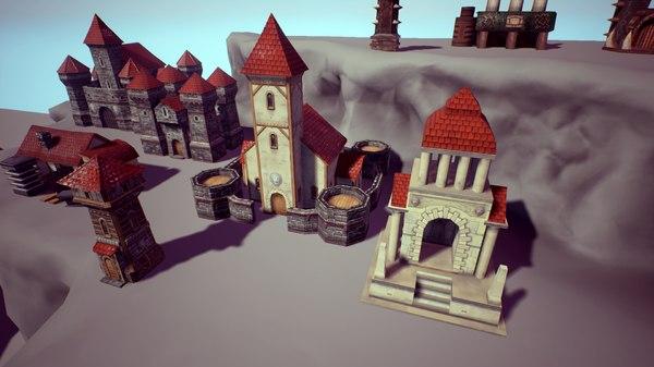 3d rts buildings model