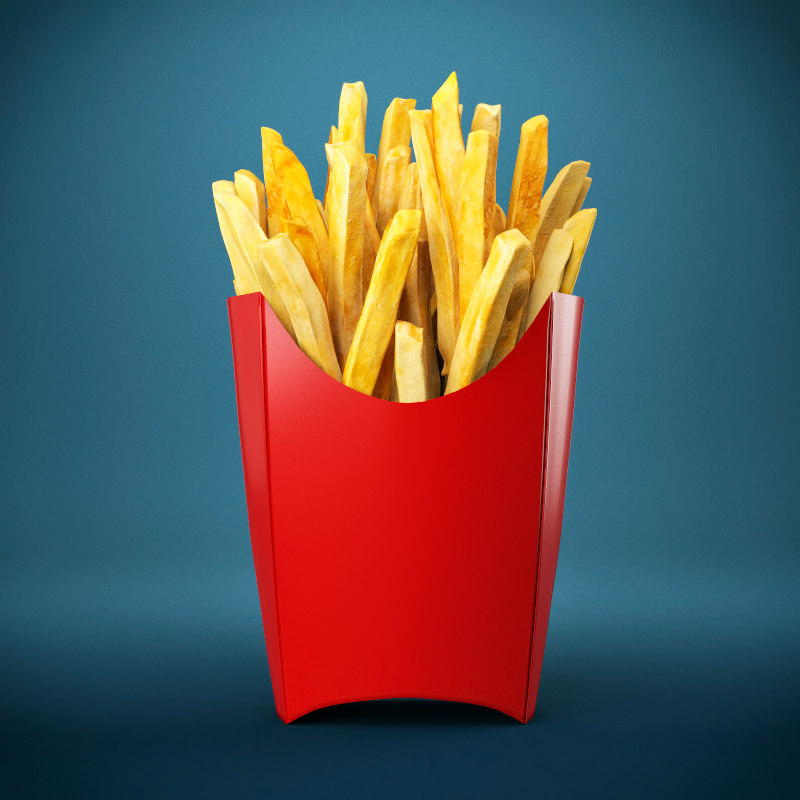 3d model of french fries