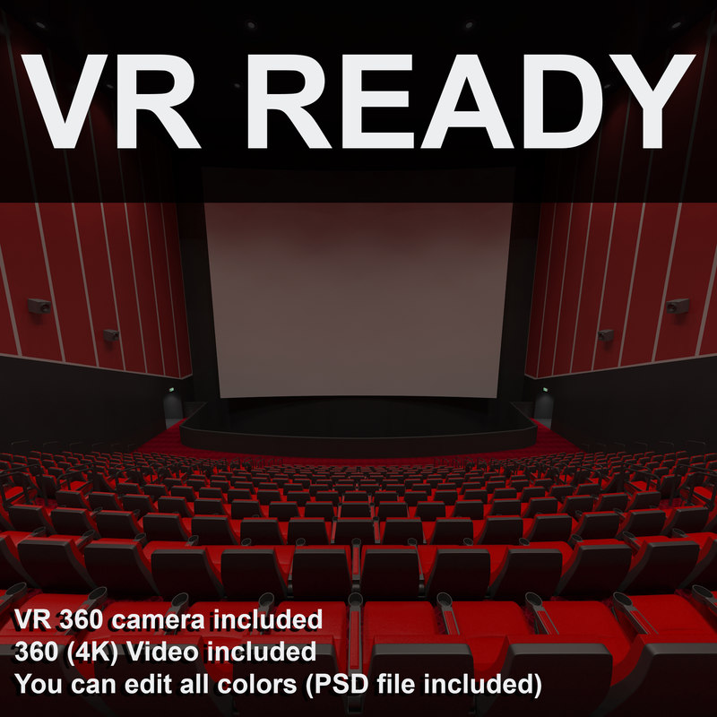 3d model of hall theater imax vr