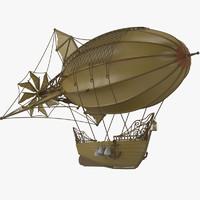 airship 3d obj