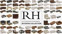 restoration hardware 68 sofas 3d model