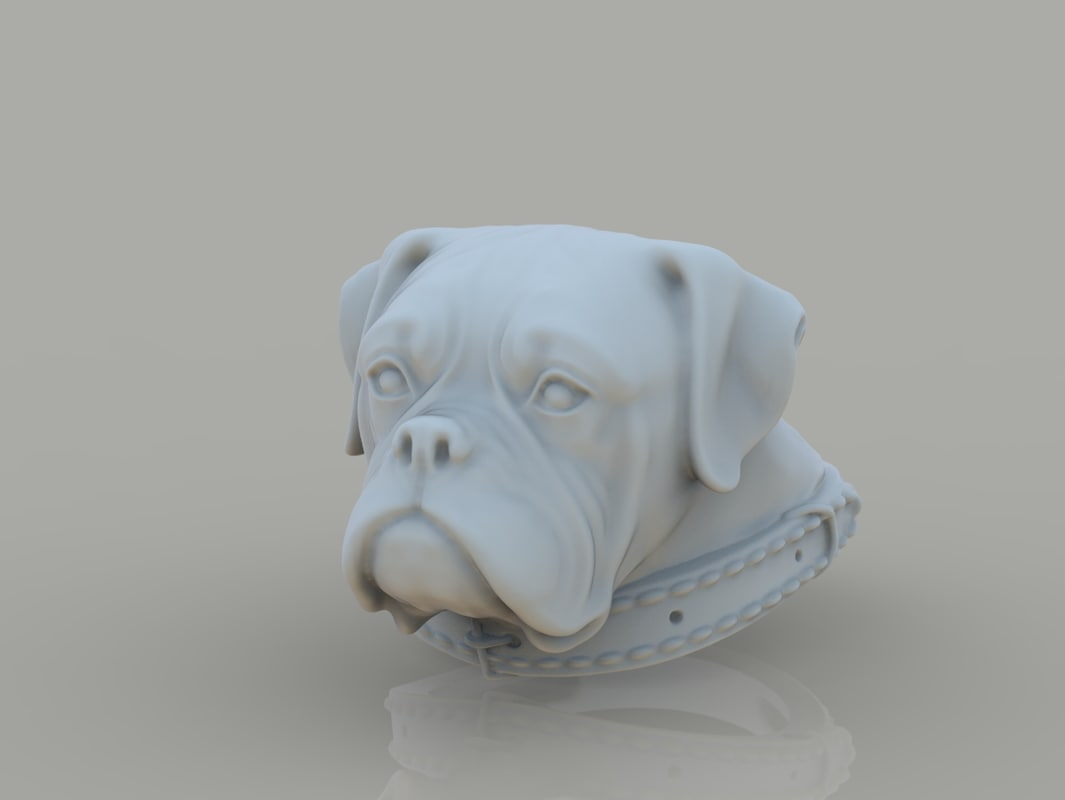3d ring dog head model