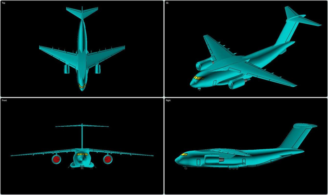 3d kawasaki aircraft solid assembly