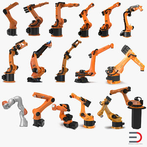 kuka robots rigged 7 3d model