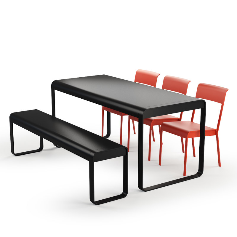 bellevie set chair table 3d max