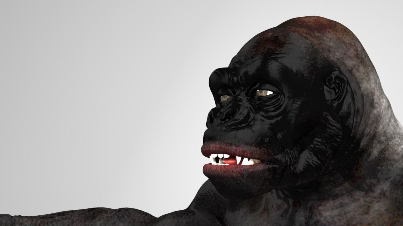 gorilla 3d obj